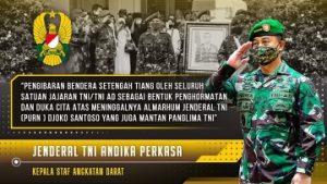 Kasad Beri Penghormatan Terakhir Untuk Jenderal TNI (Purn) Djoko Santoso