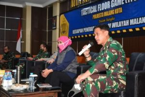 Pangdivif 2 Kostrad Hadiri TFG Dalam Rangka Kesiapan Penerapan PSBB Malang Raya