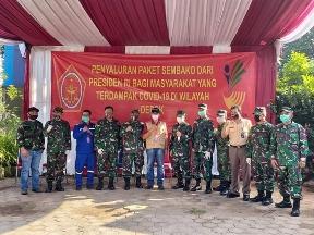 25.000 Paket Sembako dari Presiden Djoko Widodo Diserahkan 7 Desa di Kodiya Depok