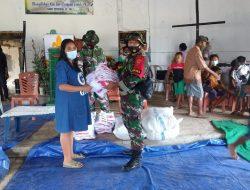 Dansektor Timur Berikan Bantuan Pakaian Untuk Korban Banjir