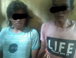 Tertangkap Di Kebun Ubi, Polsek Teluk Mengkudu Ringkus 2 Pelaku Curat