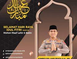 Dirreskrimum Polda NTB Mengucapkan Selamat Hari Raya Idul Fitri 1442 Hijriah