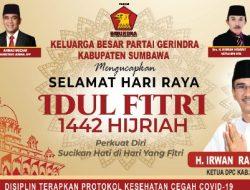 Iklan Hari Raya Idul Fitri 1442 H DPC Partai Gerindra Kab. Sumbawa