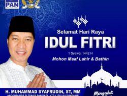 Ucapan Selamat Hari Raya Idul Fitri 1442 Hijriah H Muhammad Syafrudin, ST., MT Anggota DPR RI F-PAN Dapil NTB I (Pulau Sumbawa)