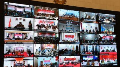 Rapat secara Virtual Presiden Bersama Kepala Daerah Se-Indonesia memberikan Pengarahan Terkait Penanganan Covid-19
