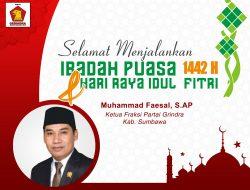 Ketua F-Partai Gerindra DPRD Kab. Sumbawa Mengucapkan Selamat Menjalankan Ibadah Puasa & Hari Raya Idul Fitri 1442 H