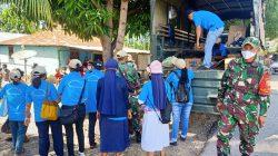 Satgas Pamtas Yonif 742/SWY Dukung Bantuan Kemanusiaan Untuk Korban Badai Seroja