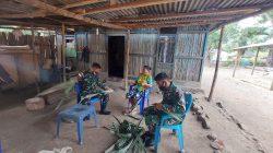 Personel Satgas Pamtas Yonif 742/SWY Wujudkan Kebersamaan dan Kekompakan di Perbatasan