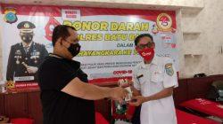 Peringati Hari Bhayangkara Polres Batubara Serahkan 120 Kantong Darah kepada Palang merah Indonesia.