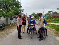 Polsek Tanjung Beringin Imbau Masyarakat dan Tegur Melanggar Prokes