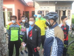 Sembari Berolahraga, Kapolres Sergai dan Wakil Bupati Cek Posko PPKM Mikro Kampung Tangguh