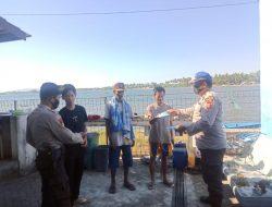Sat Polairud Polres Sumbawa Laksanakan Patroli proles Dan Bagikan Masker