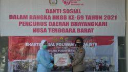 HKGB-69 dan HariJadi Polwan Ke73 Bhayangkari Polda NTB Berbagi Dengan Nakes