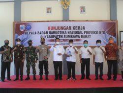 Forkopimda Kabupaten Sumbawa Barat Menerima Kunker Kepala BNN Provinsi NTB