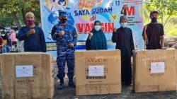 Lanud ZAM  Sukseskan Program  Vaksinasi Di Desa Malaka Lombok Utara