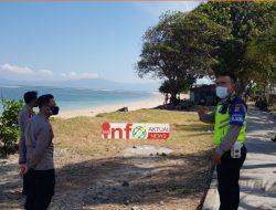 Polres Dompu Gelar Operasi Yustisi PPKM Mikro di Tempat wisata Pantai.