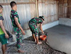 Danpos Turiscain Satgas Pamtas Yonif 742/SWY Serahkan Rumah Usai Renovasi