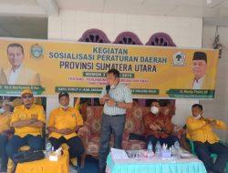 DPD II Partai Golkar Kabupaten Batubara Lakukan Sosialisasi Perda Di Kecamatan Sei Balai