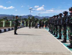 Wadanpussenif Kodiklat TNI AD Kunjungi Pos Satgas Pamtas Yonif 742/SWY