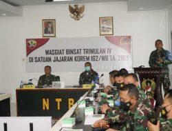 Kunker Waasops Kasad ke Makorem 162/WB Dalam Rangka Evaluasi Binsat